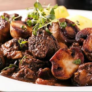 Slow Cooker Beef and Mushroom Stew.