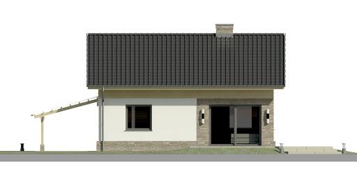 Dom przy Imbirowej 4 N - Elewacja tylna