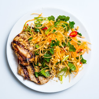 Pork Cutlets with Cantaloupe Salad