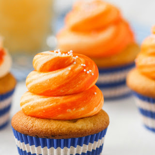 Orange Creamsicle Cupcakes.