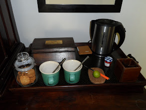 Photo: Every little detail is thought out, milk or lemon or indeed honey for your tea.