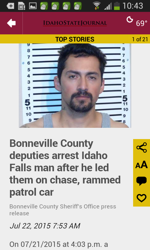 Idaho State Journal- screenshot