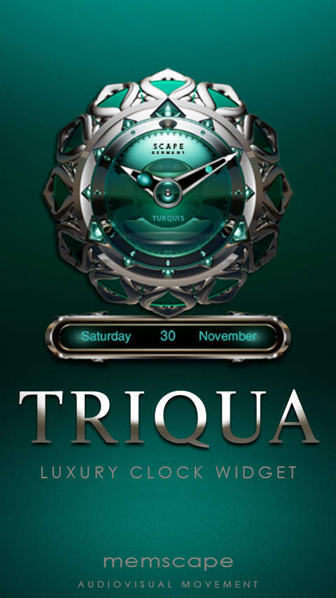 TRIQUA Luxury Clock Widget- screenshot