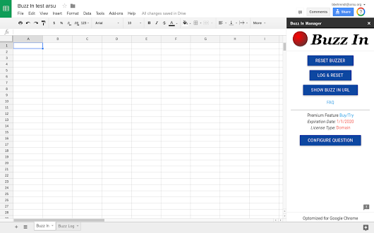 Buzz In - Google Sheets add-on