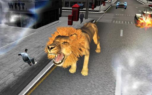 凶猛的狮子