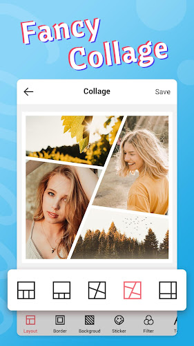 Fancy Photo Editor - Collage, Sticker, Makeup Android App Screenshot
