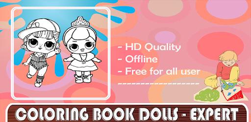 Coloring Book Dolls Expert Drawing التطبيقات على Google Play