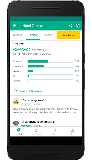 Screenshot 2 for TripAdvisor's Android app'