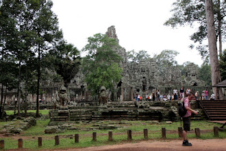 Photo: Year 2 Day 44 - The Bayon, in the Centre of Angkor Thom