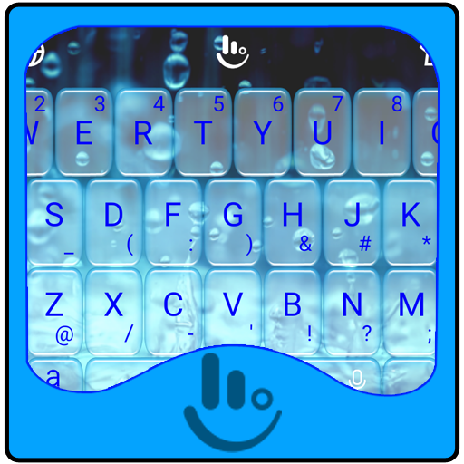 Pure Water Drops Keyboard Theme