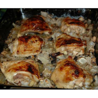 Baked Chicken Thighs.