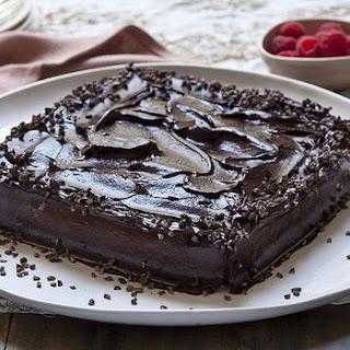 Coconut And Raspberry Cake With Chocolate Ganache