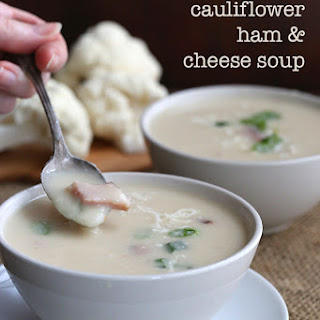 Slow Cooker Ham & Cheese Cauliflower Soup