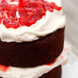 Strawberry Chocolate Anniversary Cake.