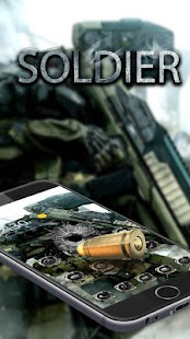 Military force theme mercenary theme launcher - náhled