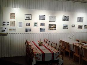 Photo: Utställning av gamla foto från Oppmanna åren 1930-1990 på julmarknaden 2013-12-15