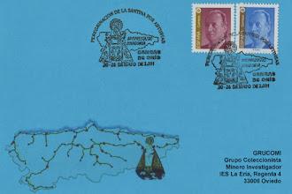 Photo: Matasellos de la Peregrinación de la Santina por Asturias: Cangas de Onis del 20 al 26 de mayo de 2001