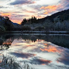 Cold morning by Uroš Florjančič - Landscapes Mountains & Hills