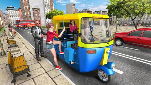 Modern Tuk Tuk Auto Rickshaw: Free Driving Games screenshots 1