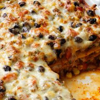 Mexican Black Bean Lasagna.