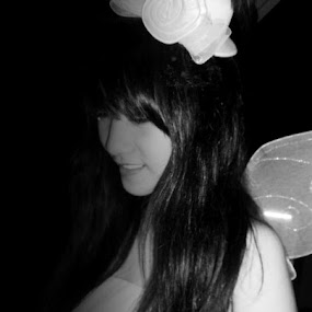 Fairy by Patricia Mae Paladin - Black & White Portraits & People ( photgraphy, fairy, black&white )