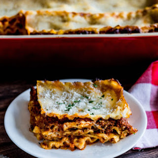 Lasagna Bolognese with Bechamel Sauce