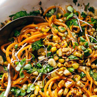 Chipotle Sweet Potato Noodle Salad with Roasted Corn