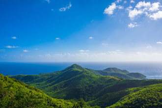 Photo: The higher your vantage point, the more expansive your thoughts. You have to love a great view! -- Antigua