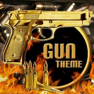 Gun Theme Gold AK47 SMG Pistol- screenshot thumbnail
