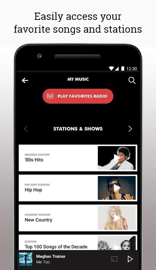 Screenshots of Slacker Radio for iPhone