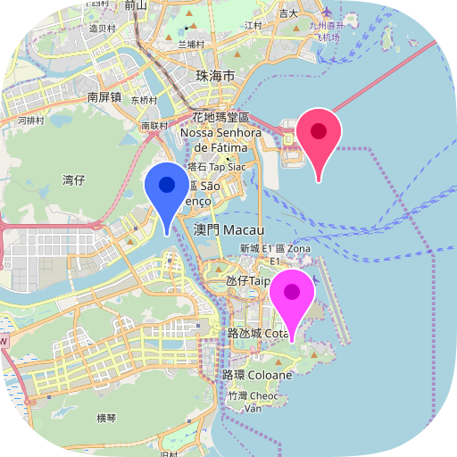 print maps, advertising maps, service maps, facebook maps, online interactive maps, on macau offline map