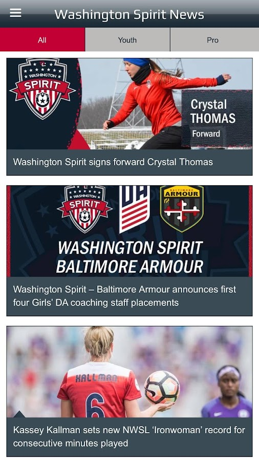 Washington Spirit- screenshot