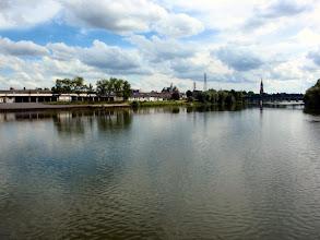 Photo: Hier in Metz mündet die Seille in die Mosel
