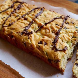Chocolate Chip Zucchini Bread With A Chili Chocolate Drizzle