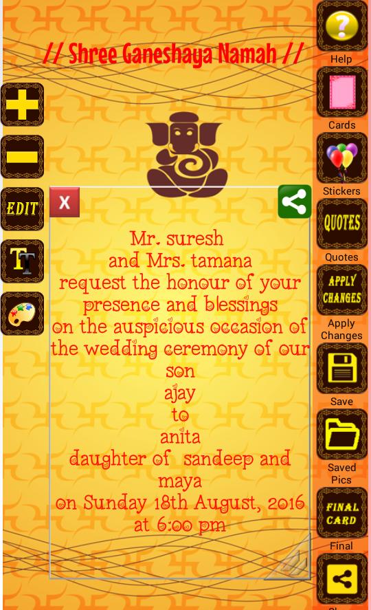 Hindu Wedding Invitation Cards Android Apps on Google Play – Hindu Invitation Card