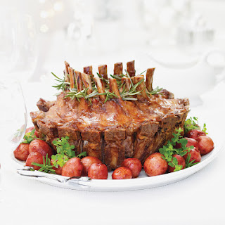 Pork Crown Roast with Cranberry, Rosemary and Balsamic