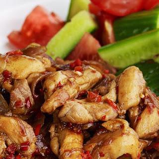 Lemongrass Chicken Stir-Fried.