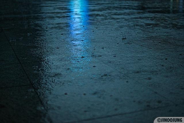 Photo: Blue rain.