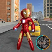 Iron Stickman Rope Hero Fighting Gangstar Crime