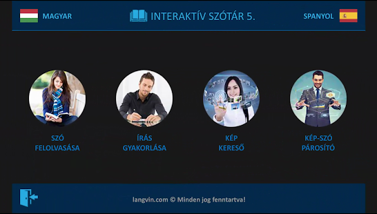 Spanyol 5. interaktív szótár - náhled