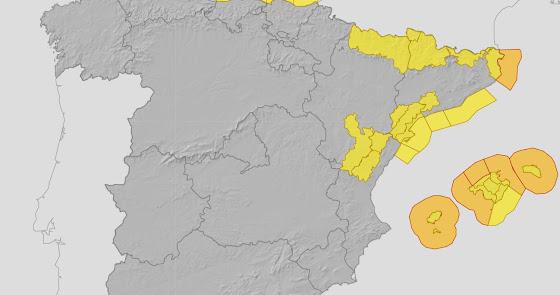 La borrasca 'Odette' traerá a Almería vientos de hasta 90 kilómetros por hora
