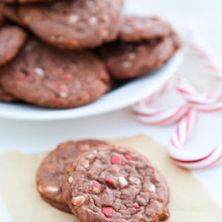 Chocolate Pudding Peppermint Cookies.