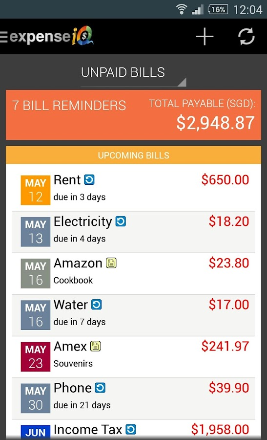 Expense IQ - Expense Manager- screenshot