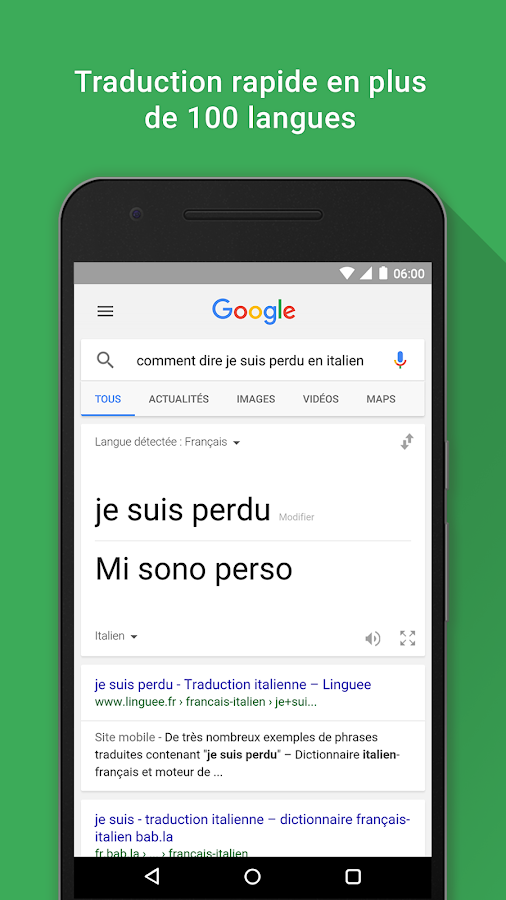 Google – Capture d'écran