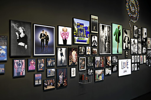 Images from the Musée Yves Saint Laurent. Picture: NICOLAS MATHÉUS