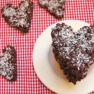 CRISPY CHOCOLATE COCONUT HEARTS.