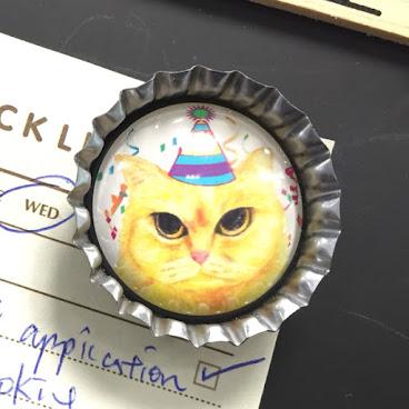 屎面貓 - 原創瓶蓋貓貓彩繪磁貼