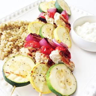 Skinny Greek Chicken Kabobs Recipe