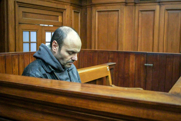 Diego Novella in the dock at the high court in Cape Town.