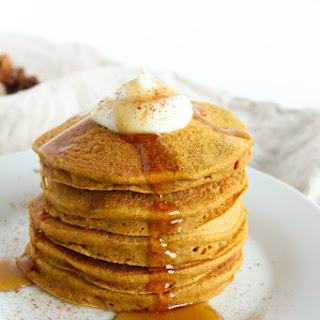 Healthy Pumpkin Pancakes.